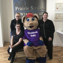 Teddy getting some work done and a donation from Prairie Smile Dental - Thank you