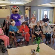 Sacred Heart Seniors enjoyed a visit with Teddy